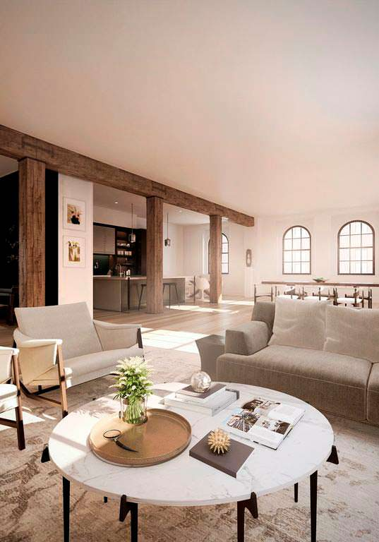 Дизайн интерьера двухэтажного пентхауса Джастина Тимберлейка