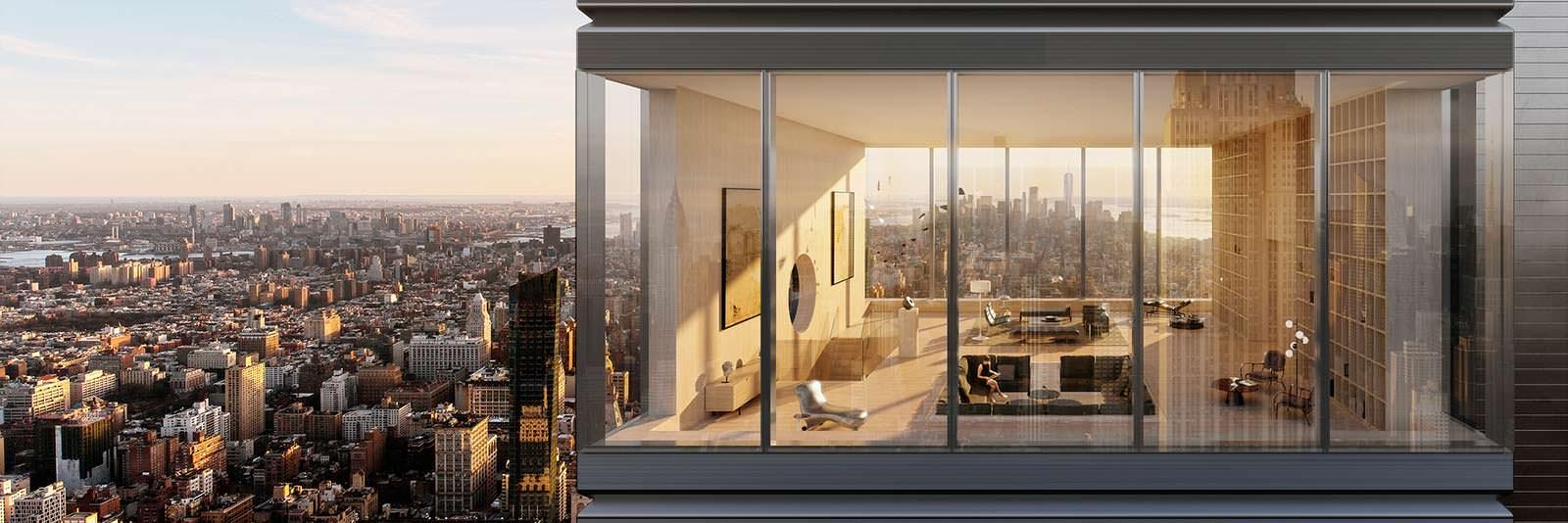 Элитный пентхаус в башне на Манхэттене. Дизайн Meganom