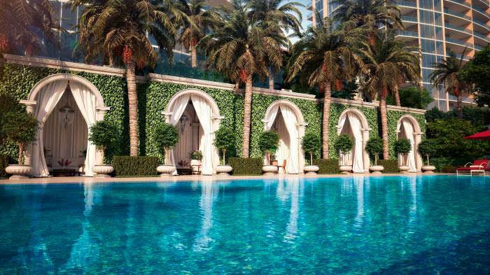 Бесконечный бассейн The Estates At Acqualina в Майами