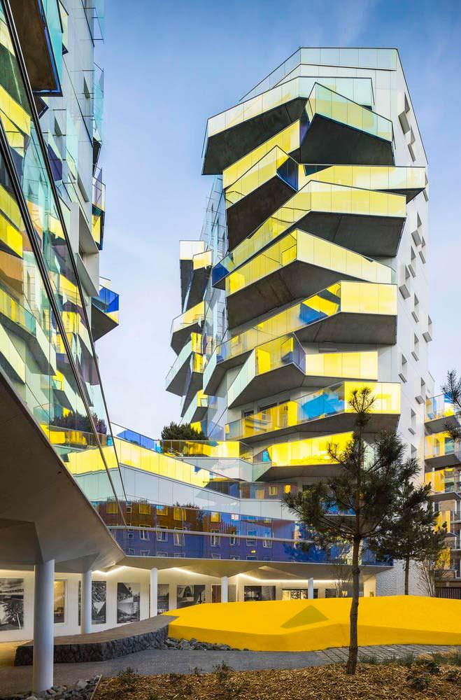 Социальное жилье в ЖК Fulton в Париже. Проект Бернард Бюлер