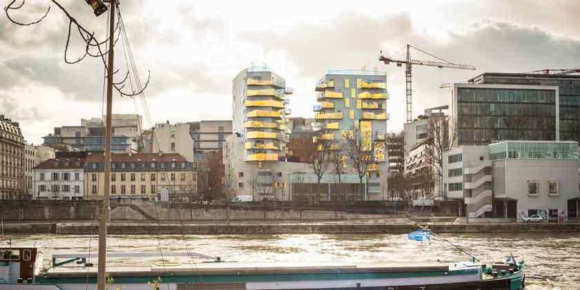 Старый ЖК Fulton на берегу Сены в Париже обрел новую жизнь