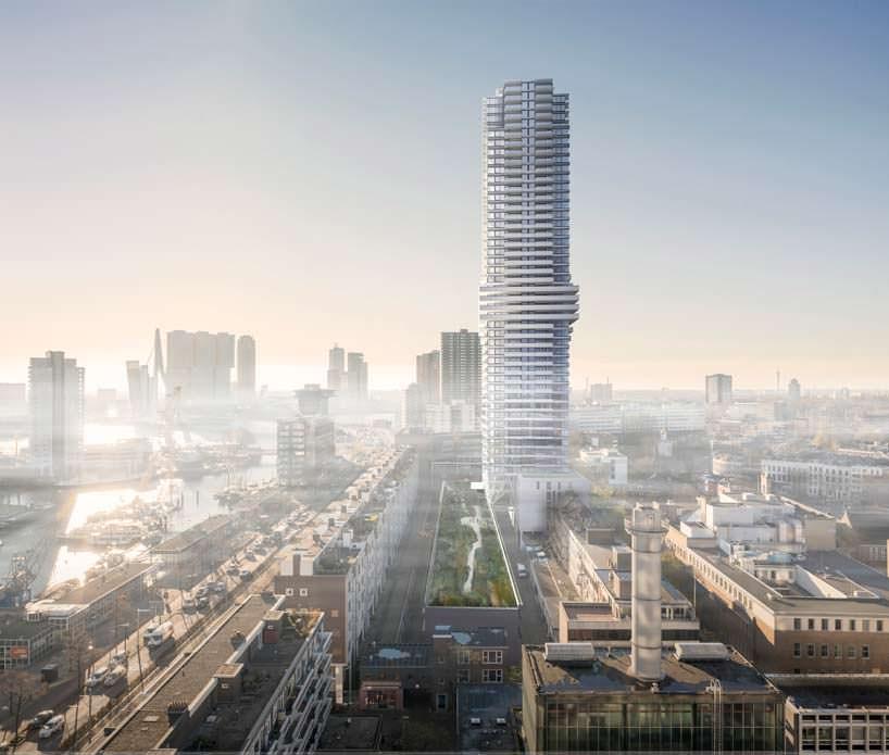 Панорама Роттердама с небоскребом Cooltoren