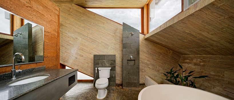 Дизайн ванной комнаты в доме на холме. Проект BPA