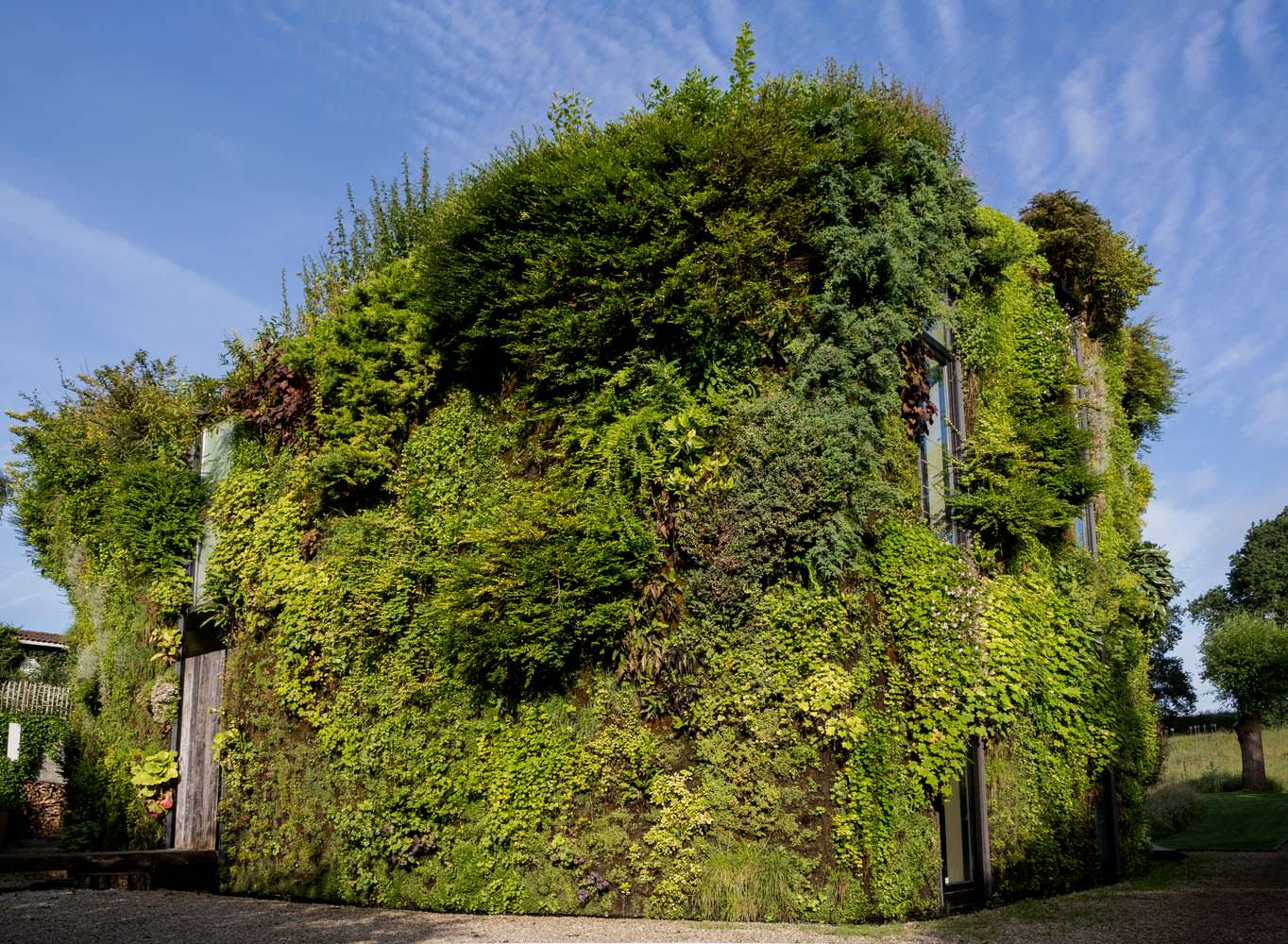 Зеленый живой фасад дома от SAMYN and PARTNERS