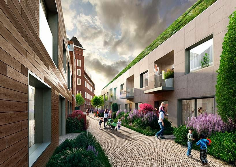 Жилой эко-квартал Nieuw Bergen в центре Эйндховена