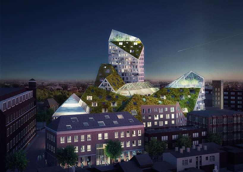 Жилой эко-квартал Nieuw Bergen в Нидерландах. Проект MVRDV