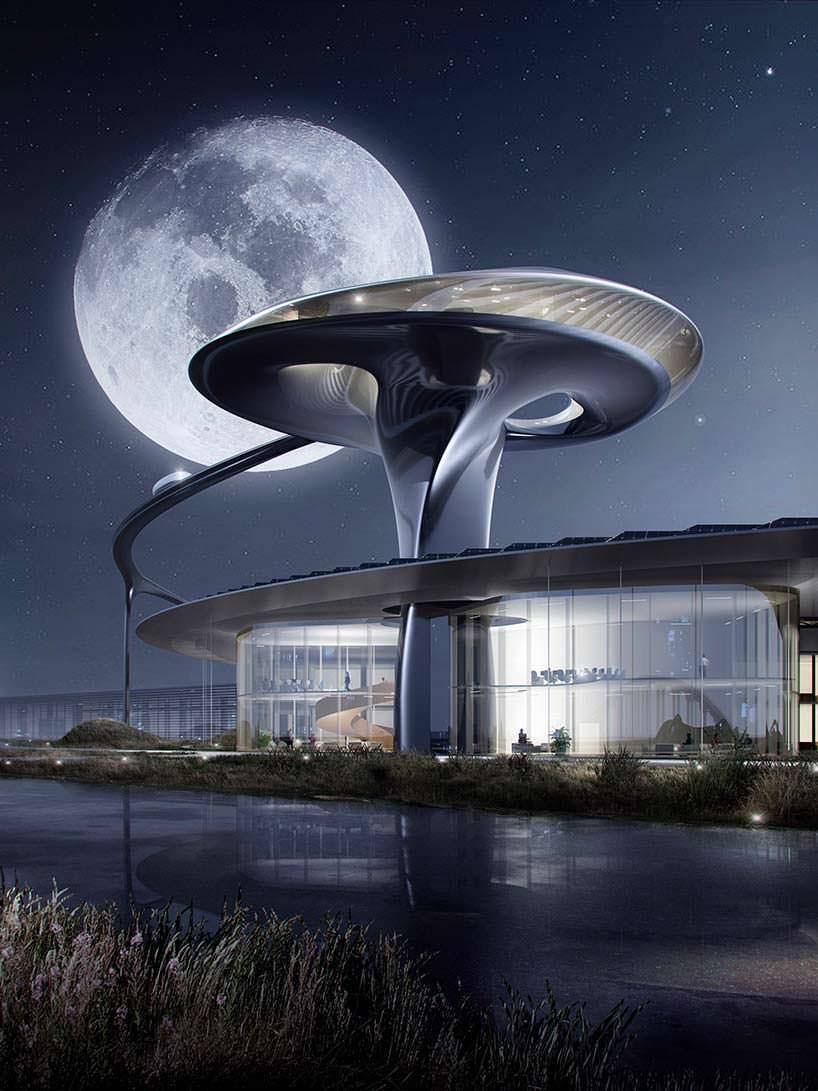 Башня с выставочным залом в FF Zeus Campus от MAD Architects