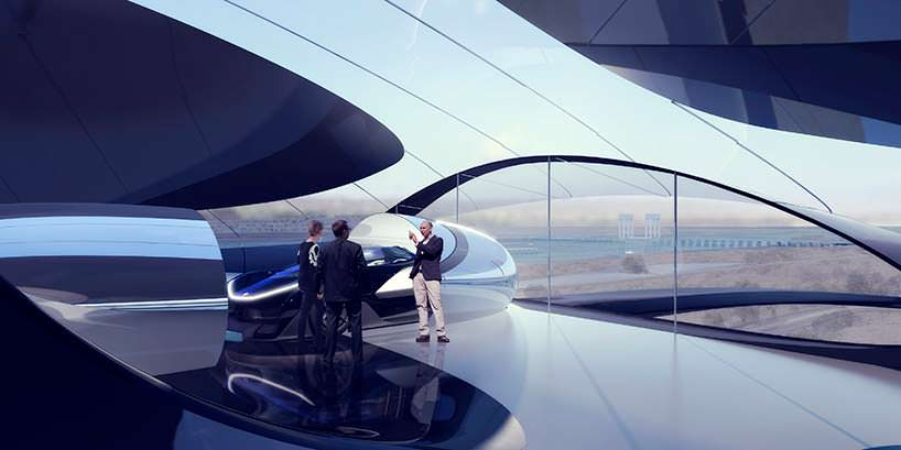 Доставка электрокара Faraday Future в выставочный зал