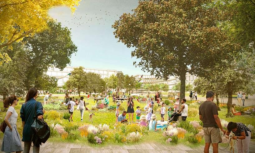 Новый кампус Facebook в Силиконовой Долине. Общественный парк