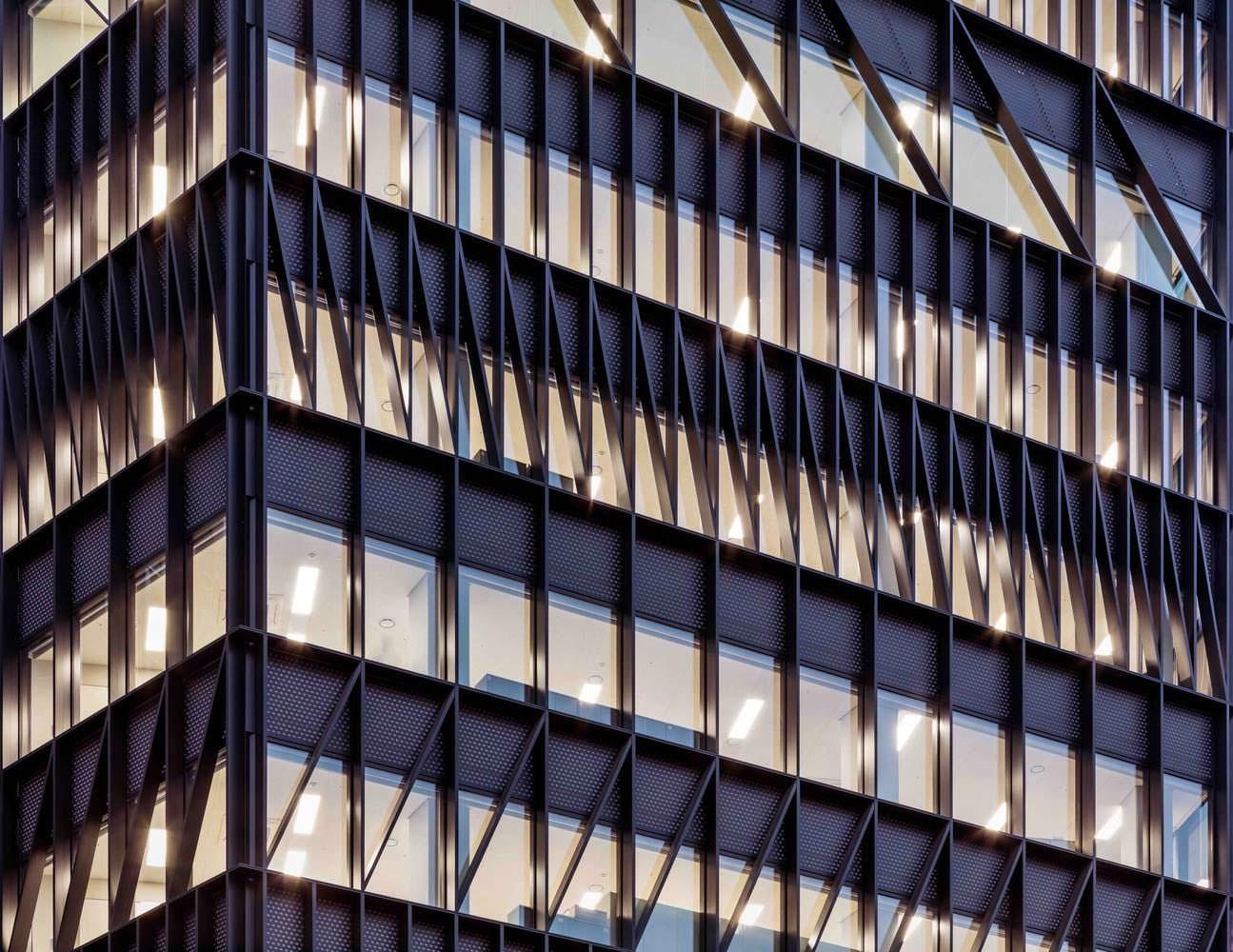 Фасад офисной башни в Сеуле от Mecanoo