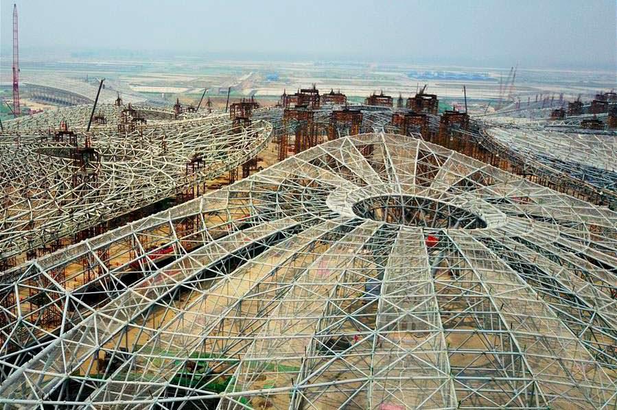 Фото | Строительство крупнейшего аэропорта мира в Пекине