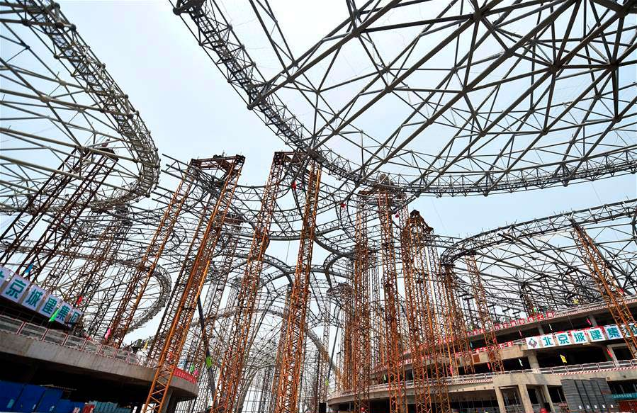 Металлический каркас крупнейшего аэропорта мира от Zaha Hadid