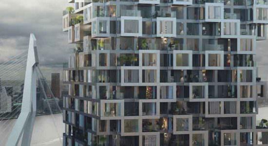 MVRDV построит башни, соединенные мостом в Роттердаме | фото