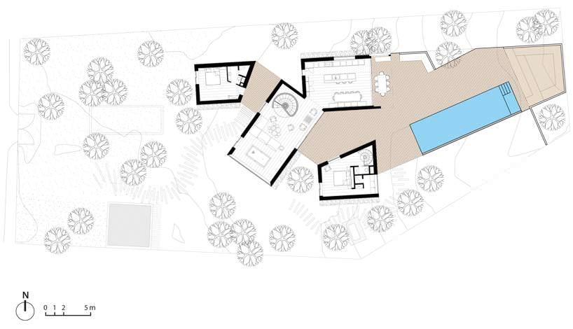 Проект виллы с бассейном и террасой от Atelier Du Pont