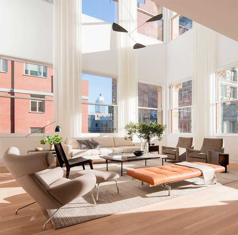 Элитный дизайн квартиры в Нью-Йорке. Архитектор Сигэру Бан