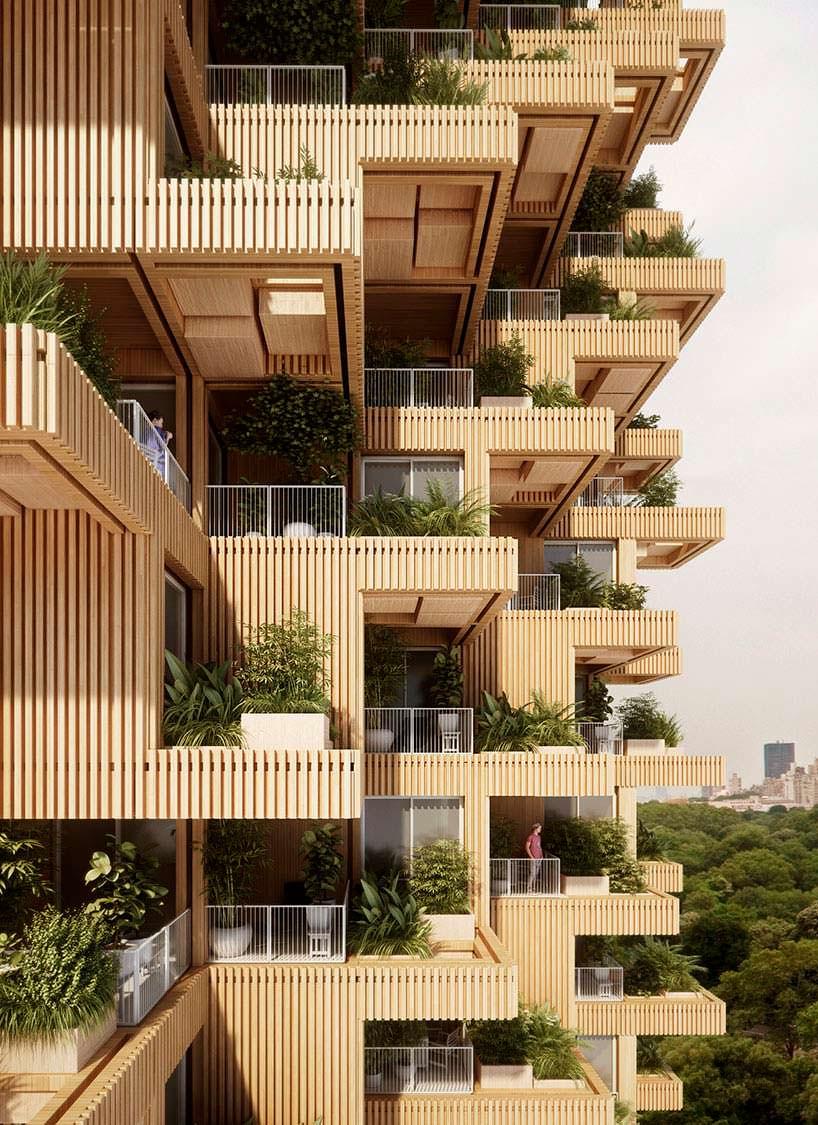 62-метровый деревянный небоскреб в Торонто от Penda + Timber