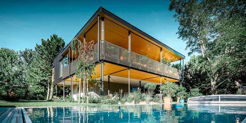 House T: дом садовода в Австрии от Viereck Architekten