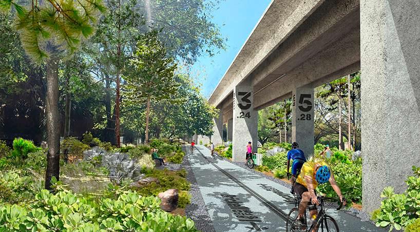 Проект линейного парка The Underline в Майами от Мэг Дэйли