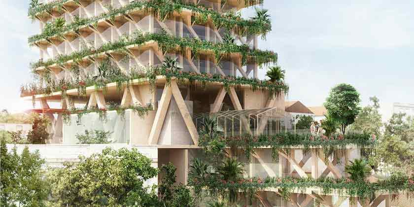 В Сан-Паулу построят деревянную башню от Amata + Triptyque