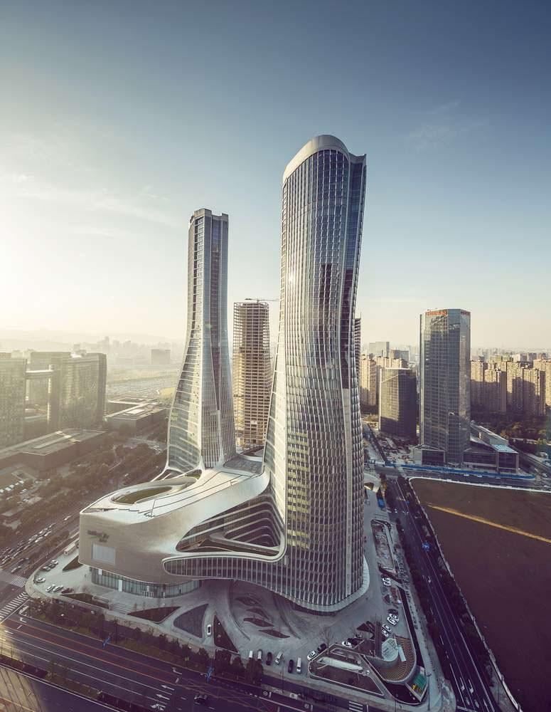Башни Raffles City в Гуанчжоу. Проект UNStudio