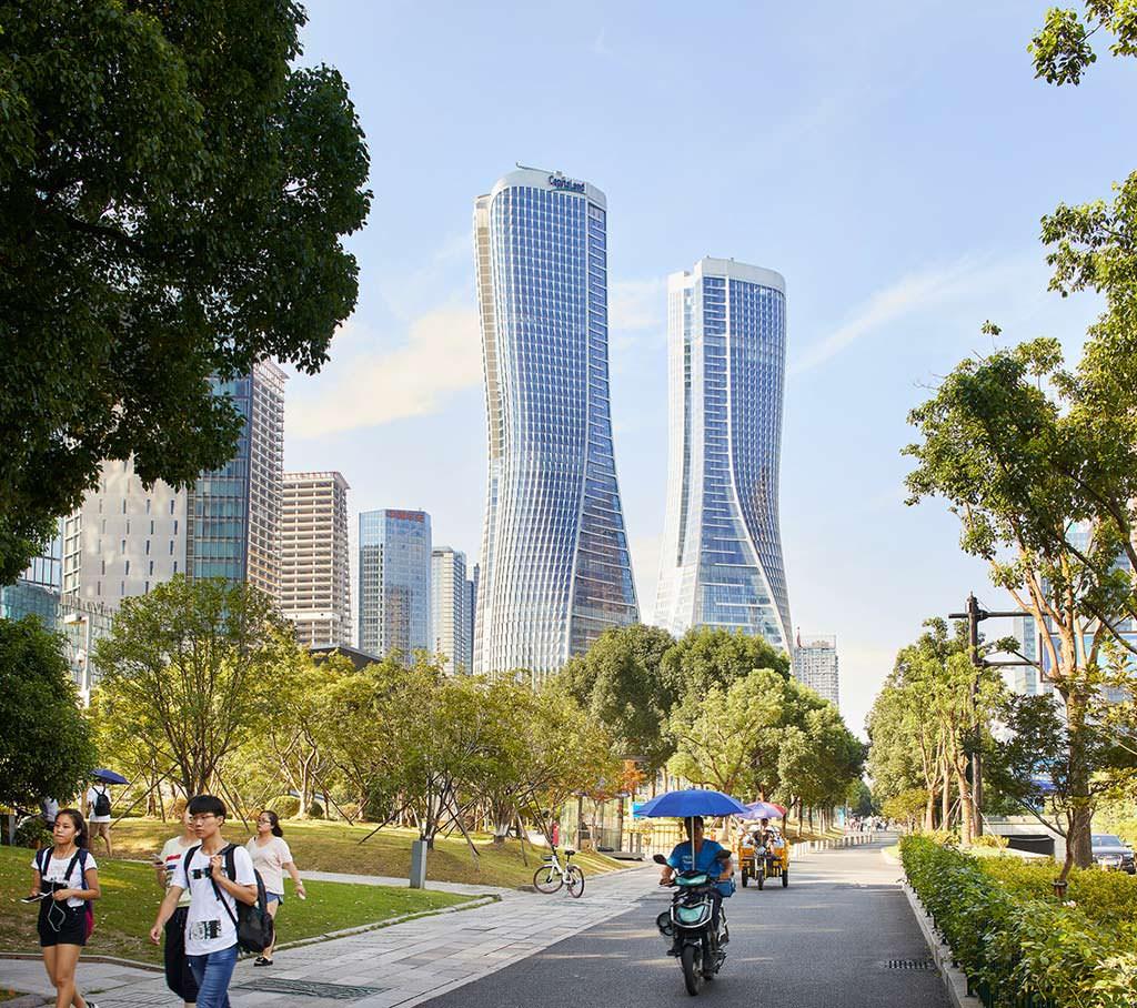 Башни-близнецы Raffles City в Гуанчжоу от UNStudio