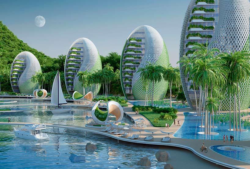 12 вращающихся башен комплекса Nautilus Eco-Resort