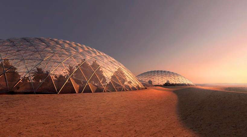 Симулятор города на Марсе в пустыне ОАЭ. Проект BIG