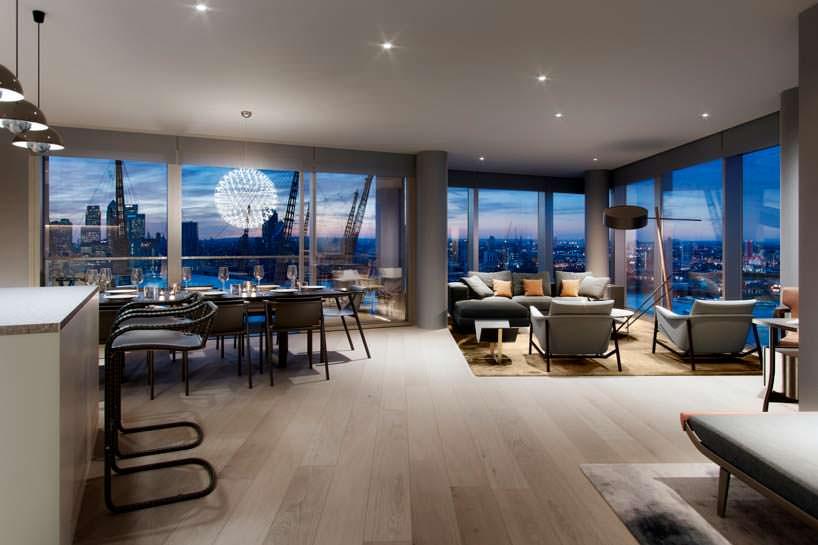 Квартира с видом на арену O2 в Лондоне