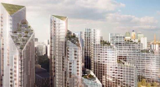 SOM построит комплекс небоскребов на берегу Темзы в Лондоне