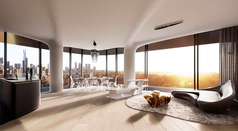 Дизайн квартиры в башне Mayfair от Zaha Hadid Architects