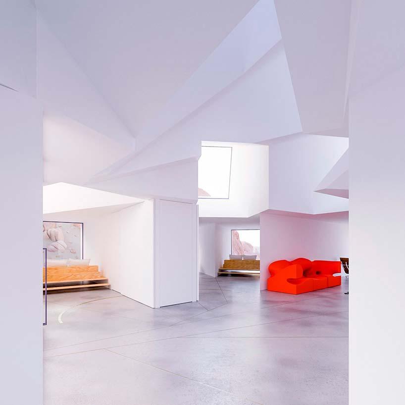 Дизайн интерьера дома из контейнеров. Проект Whitaker Studio