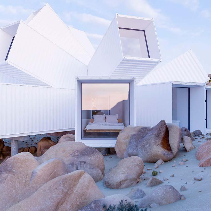 Красивый дом из морских контейнеров от Whitaker Studio