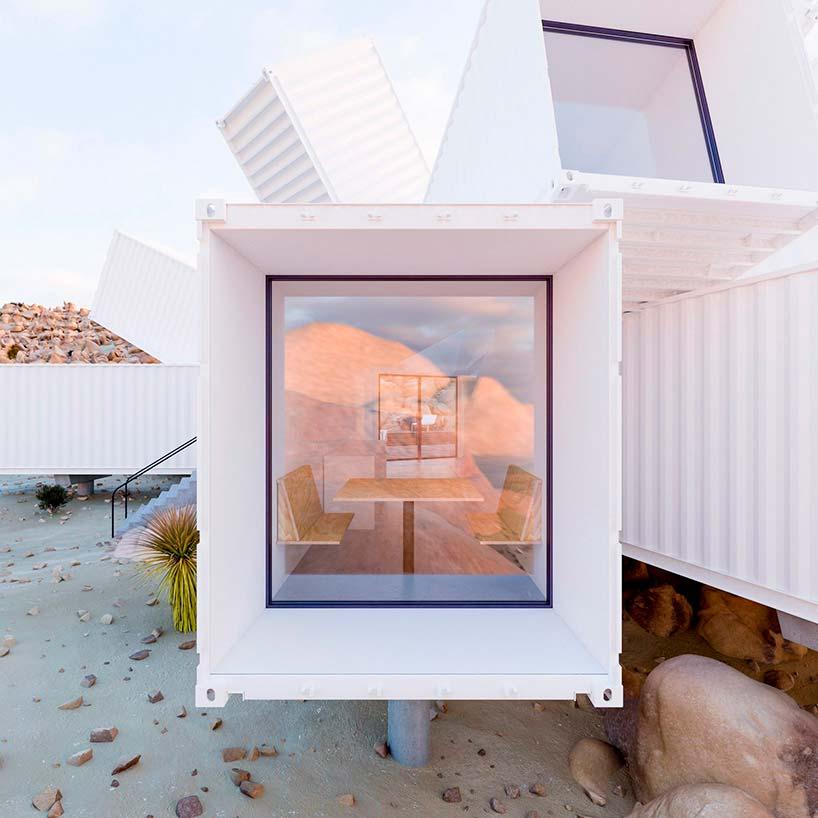 Красивый дом из морских контейнеров в Калифорнии