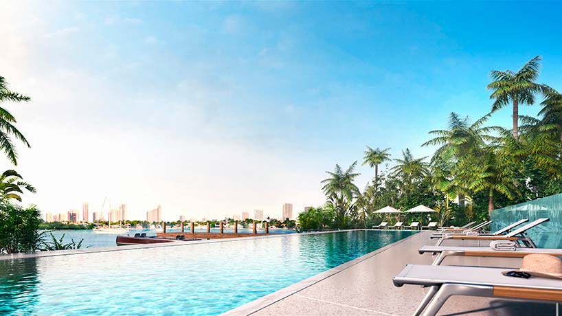 Бассейн ЖК Monad Terrace на берегу океана в Майами