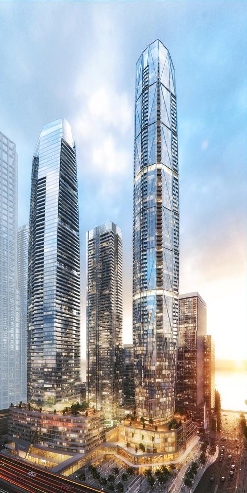 Три стеклянных небоскреба в Торонто. Проект Сиамак Харири