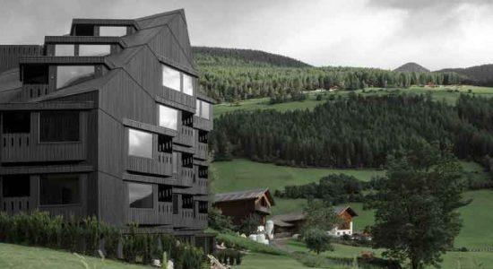Деревянный отель в горах Италии от Pedevilla Architects | фото