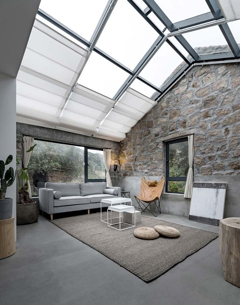 Стеклянный потолок дома от Evolution Studio