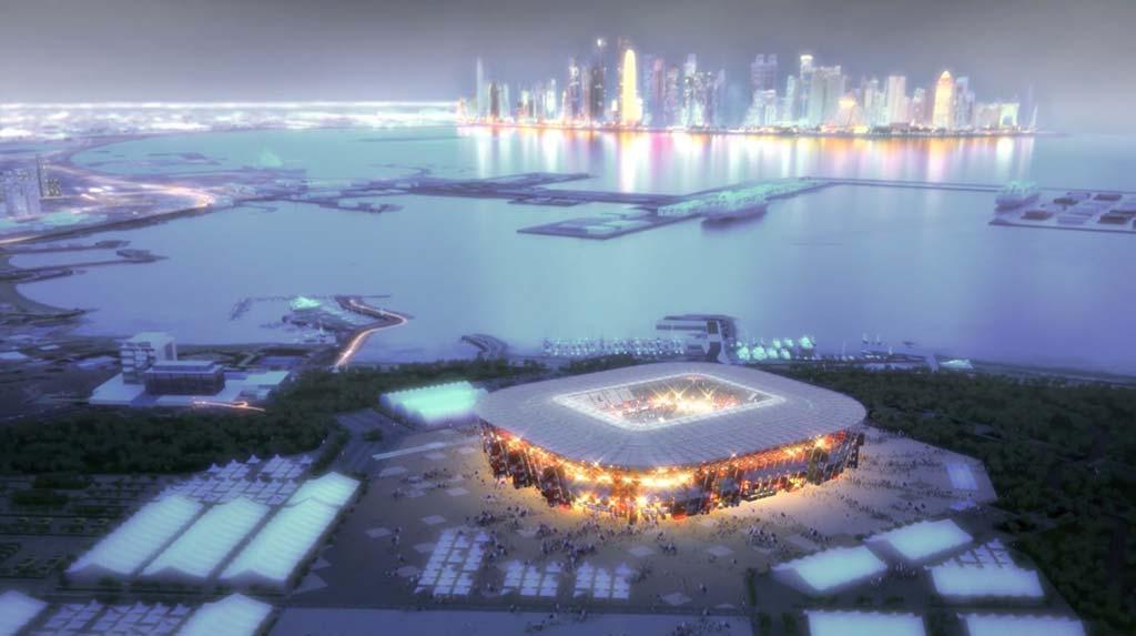 Разборный футбольный стадион из транспортных контейнеров