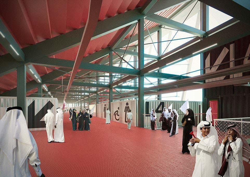 Внутри модульного стадиона от Fenwick Iribarren Architects