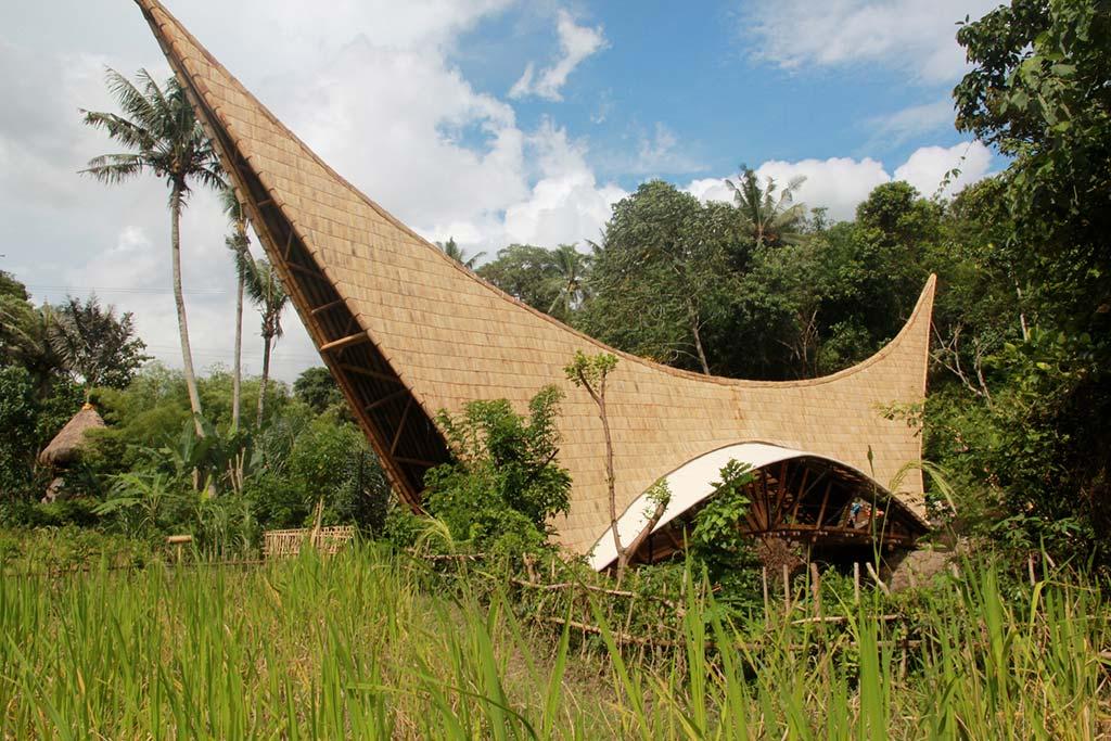Бамбуковый мост Millenium Bridge. Самый длинный в Азии