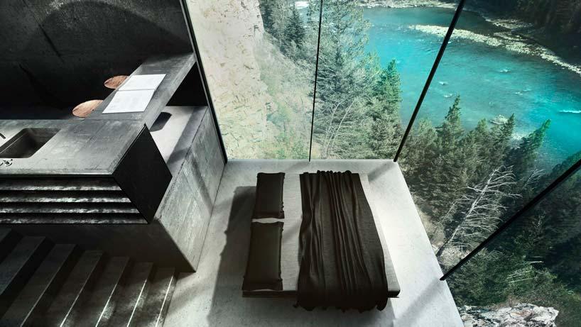 Спальня над скалой в доме Maralah