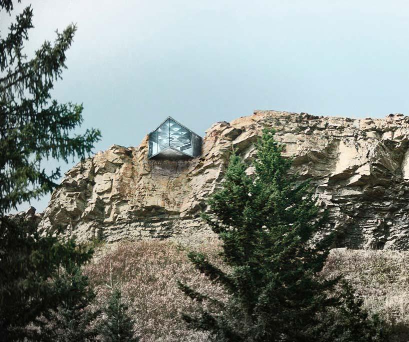 Дом в отвесной скале Maralah. Окрестности Калгари, Канада