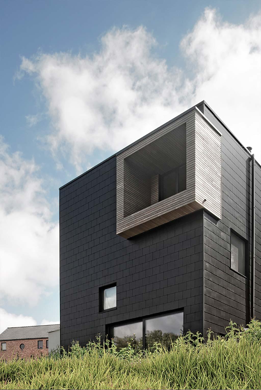 Трёхэтажный дом в Бельгии. Проект URBAN architectes