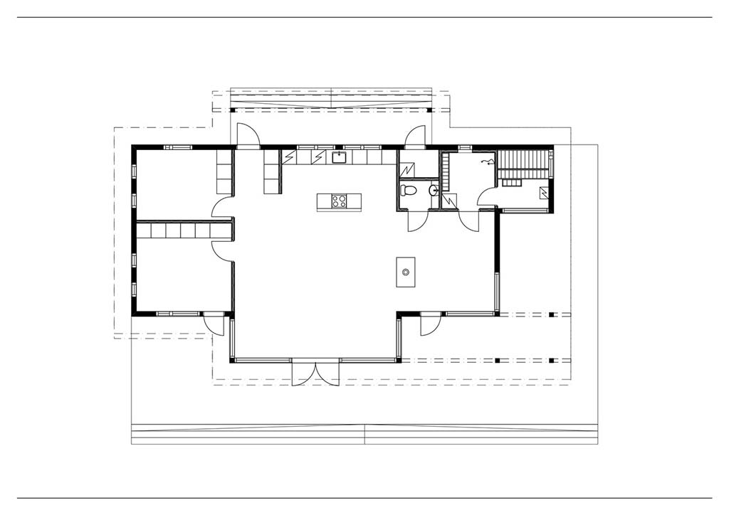 План дома из клееного бруса от Pluspuu Oy