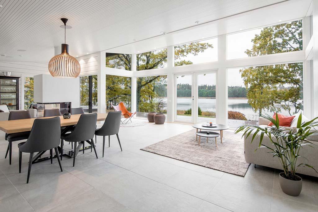 Дом с видом на озера в Финляндии. Проект Pluspuu Oy