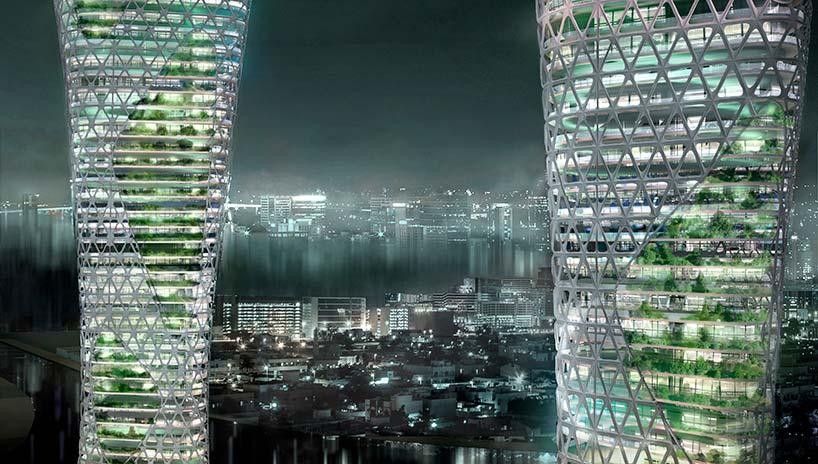 Небоскрёбы с садами внутри для Дубая от Amorphoustudio