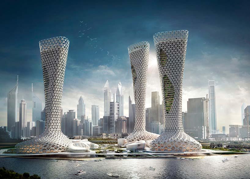 Комплекс жилых небоскрёбов для Дубая от Amorphoustudio