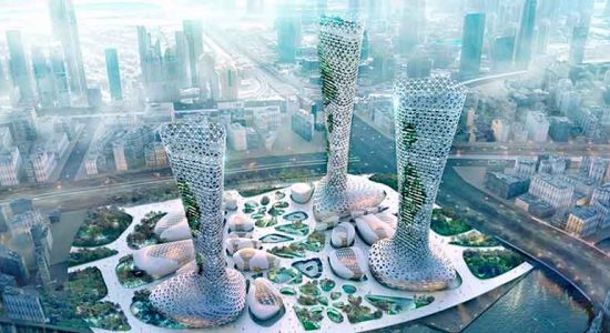 Amorphoustudio предложила для Дубая комплекс небоскребов