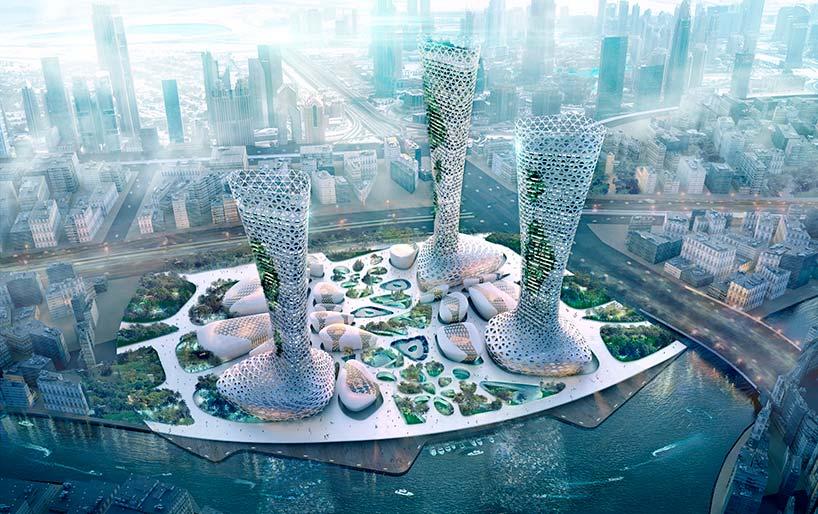 Грандиозные небоскрёбы для Дубая. Проект Amorphoustudio