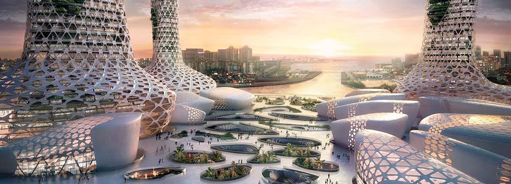 Новые небоскрёбы для Дубая. Проект Amorphoustudio
